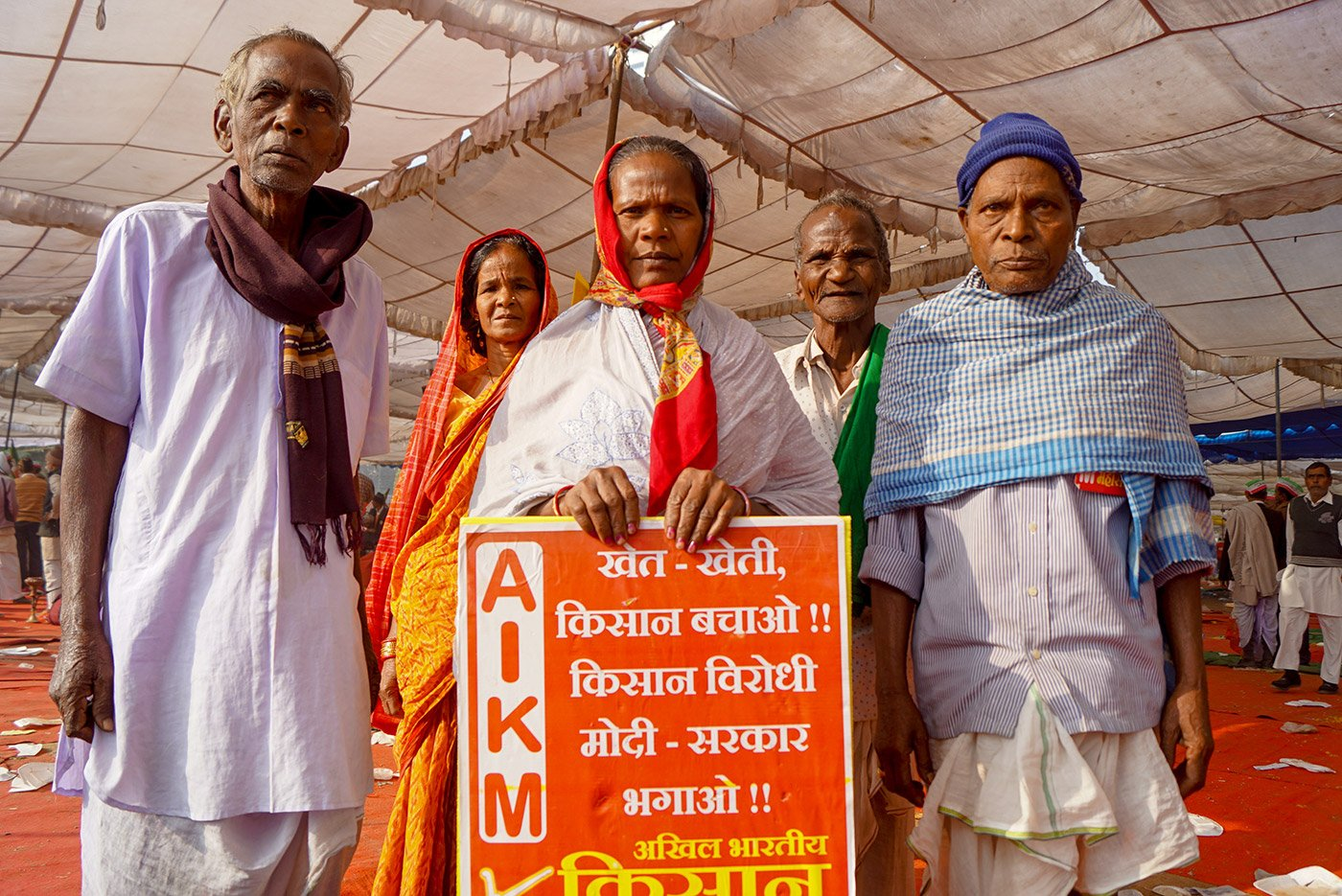 A group of farmers demanding rights