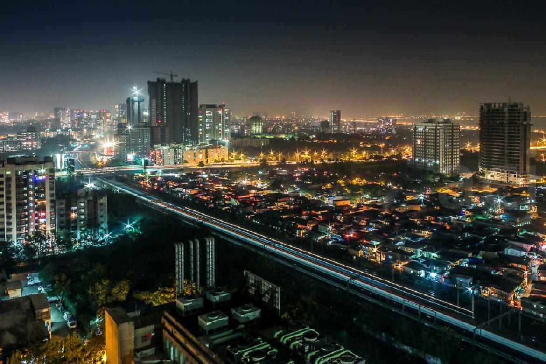 Skyline of a metro city