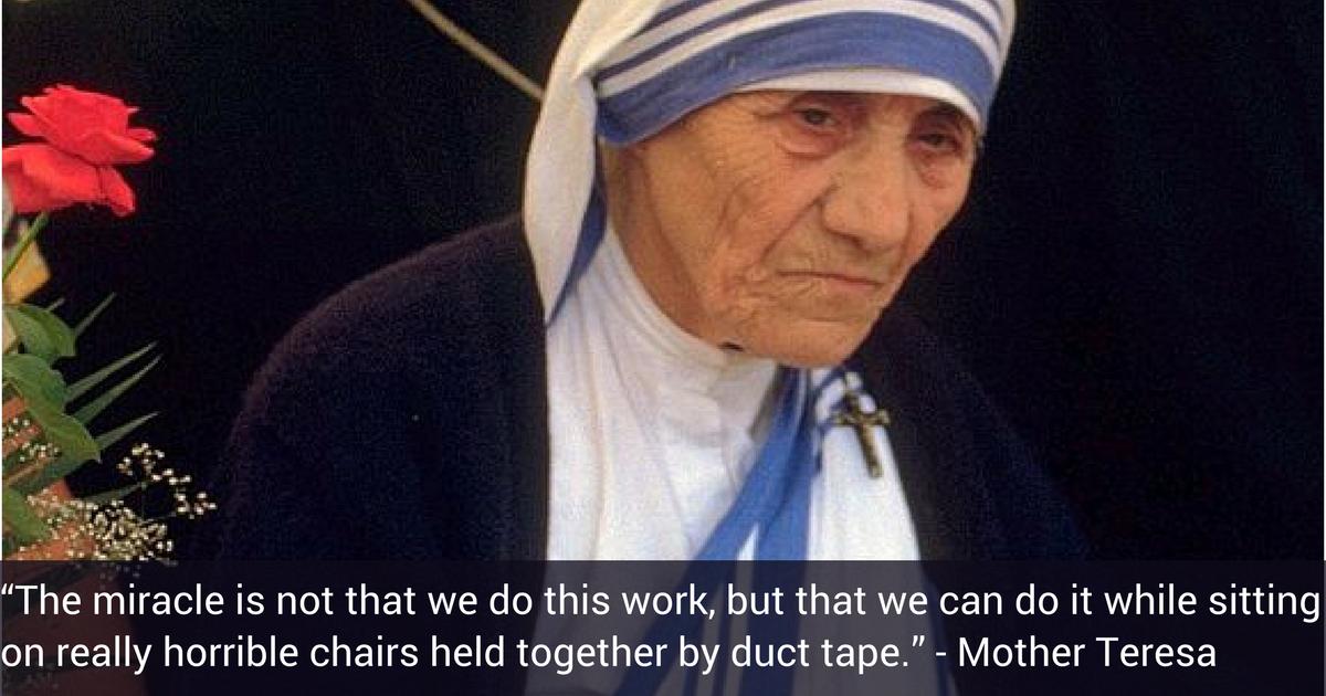 Mother Teresa Nonprofit AF Quote