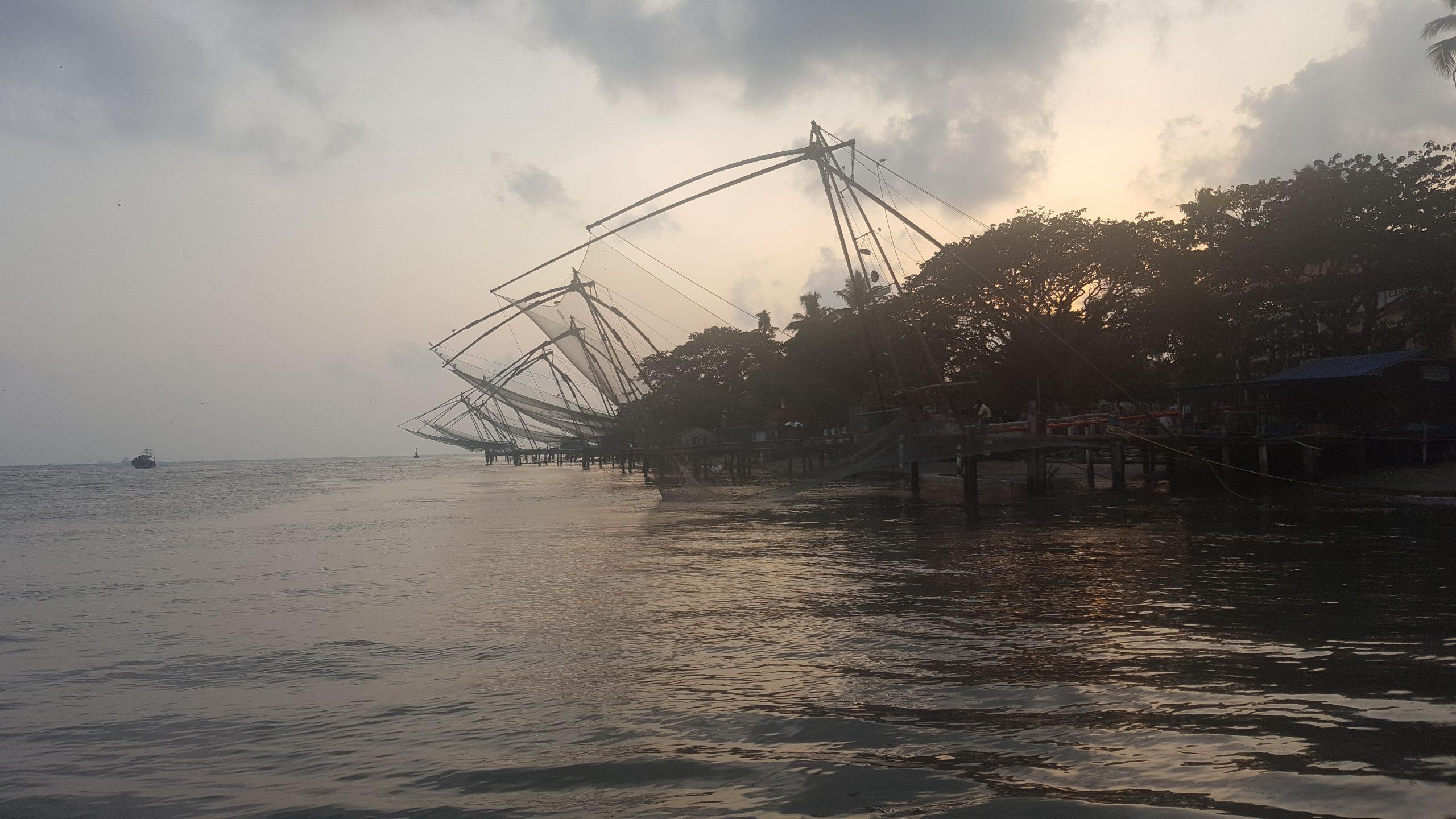 waterfront fishing nets