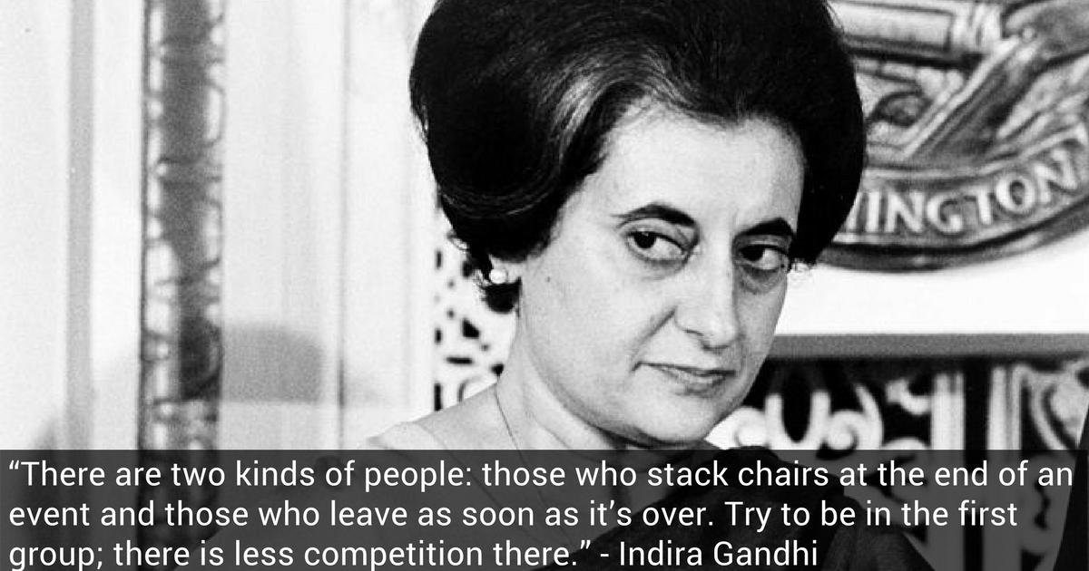Indira Gandhi Nonprofit AF Quote
