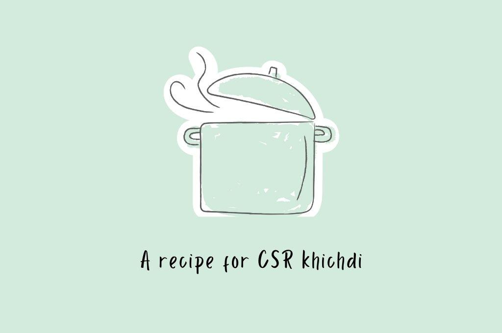 a recipe for csr khichdi