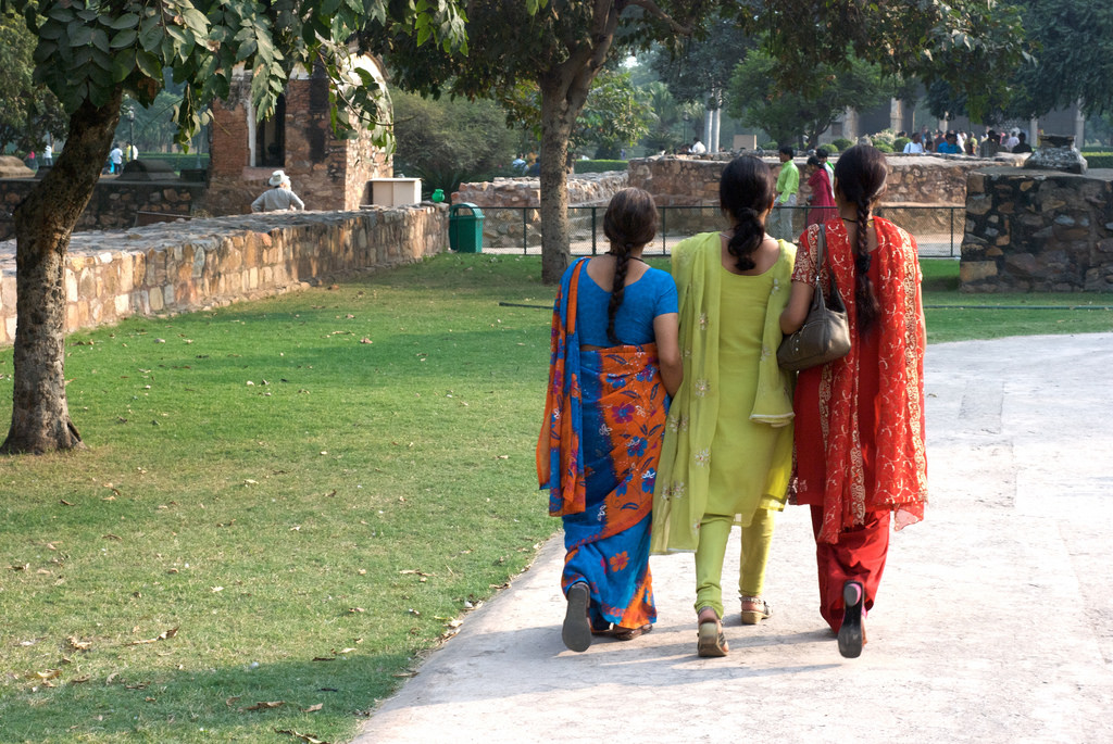 3 women walking together