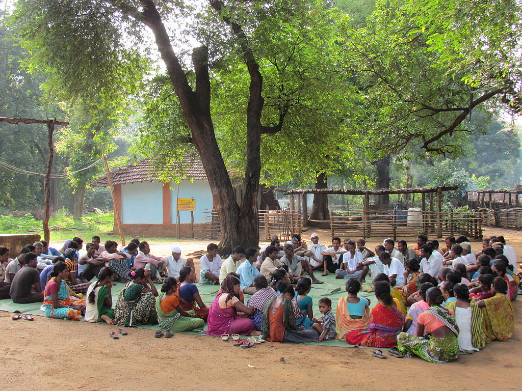Gram sabha meetting in Maharashtra_Wikimedia commons_panchayati raj