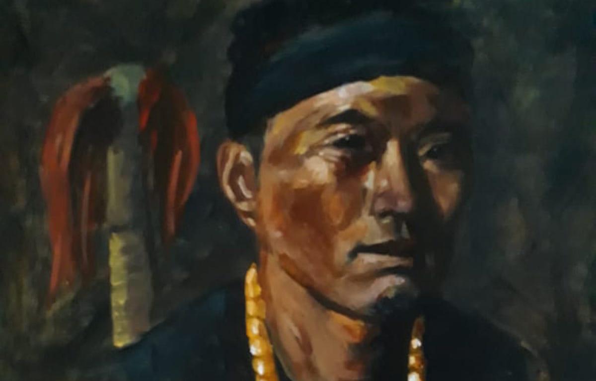 Konyak man painting