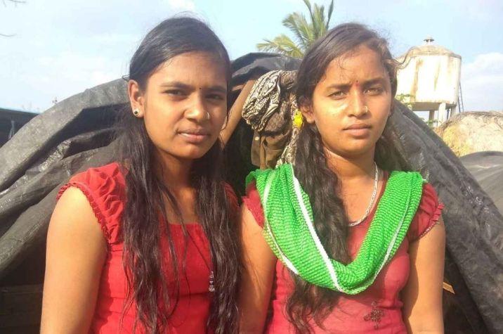 Maheswari and Kavita standing side by side