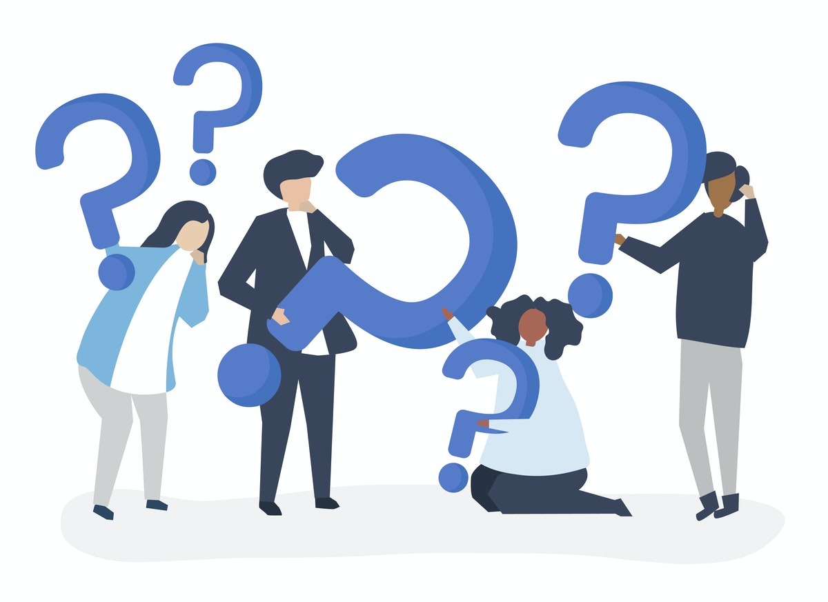 People holding up question marks graphic-rawpixel