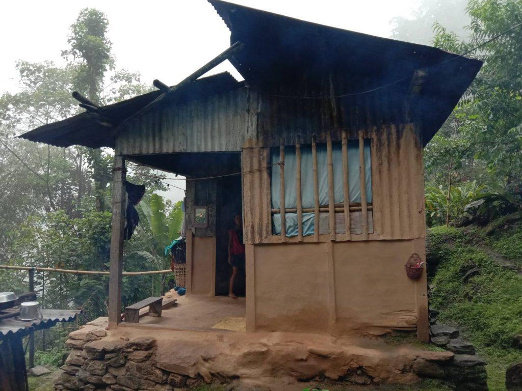 Photo of Santalachi Subba's hut-livelihoods