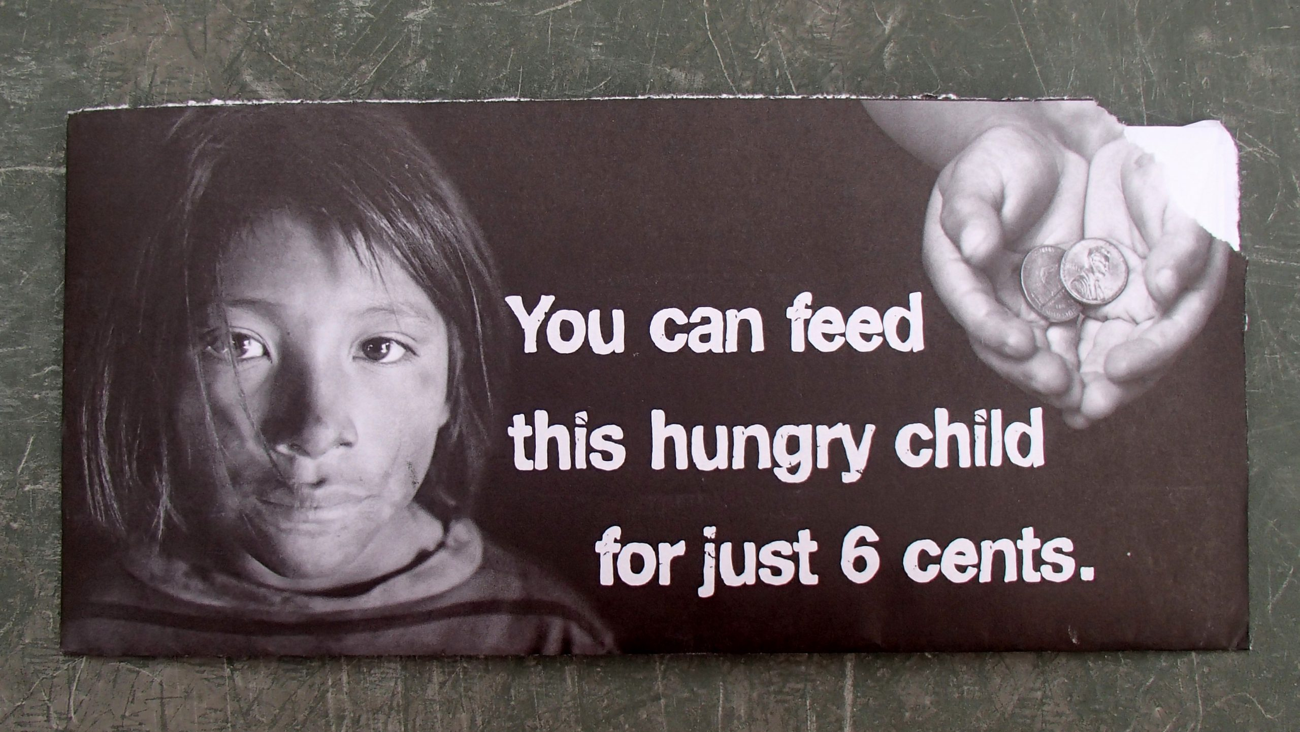 Poverty poster of a child