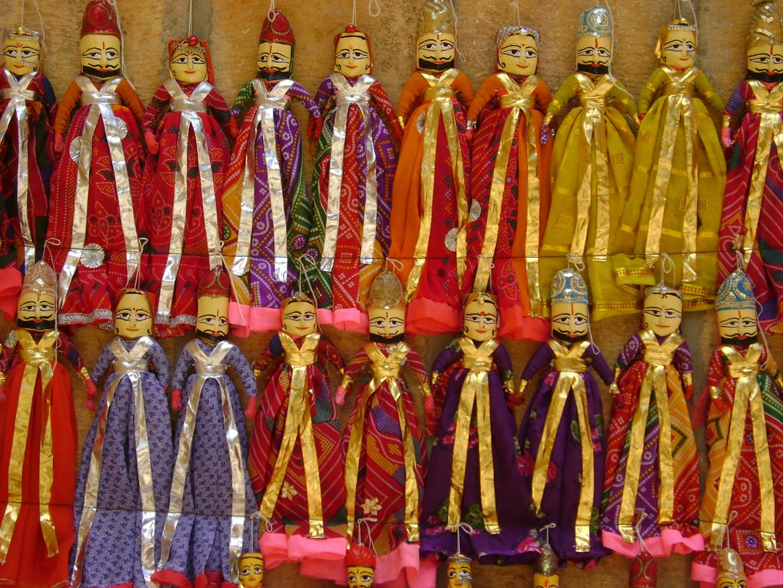 Several Rajasthani puppets