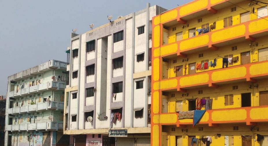 SRA housing buildings in India