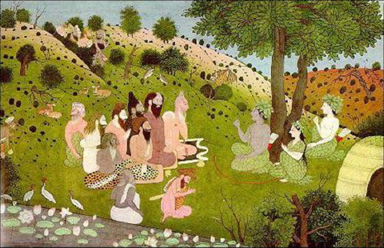 Painting of a group of sages sitting together
