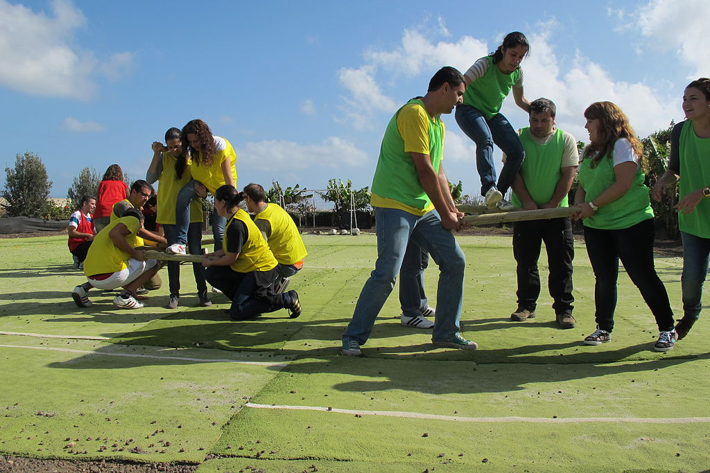 Team building games and exercises