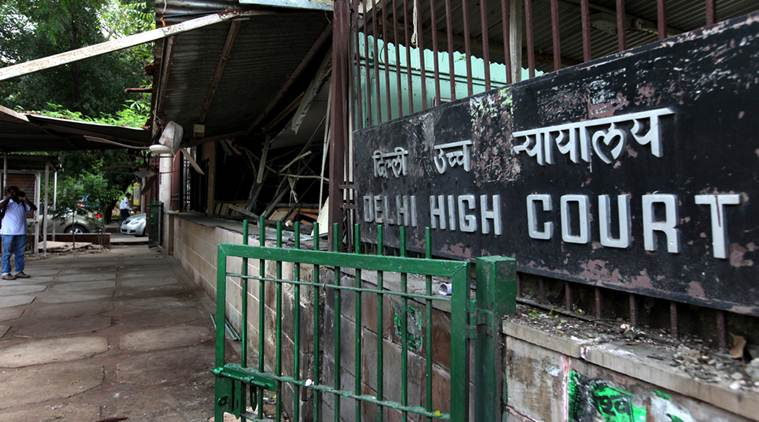 The entrance of the Delhi High Court