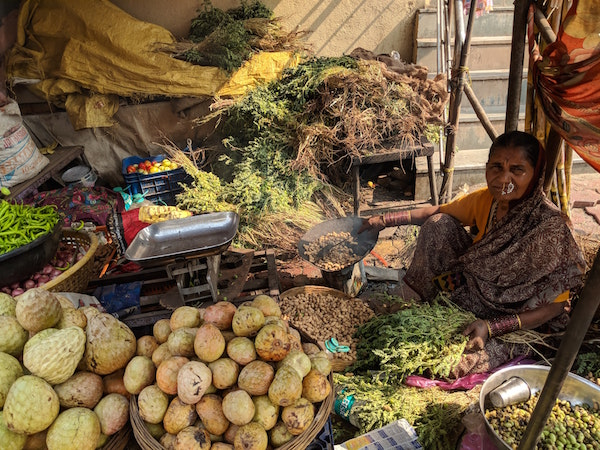 A woman vegetable vendor