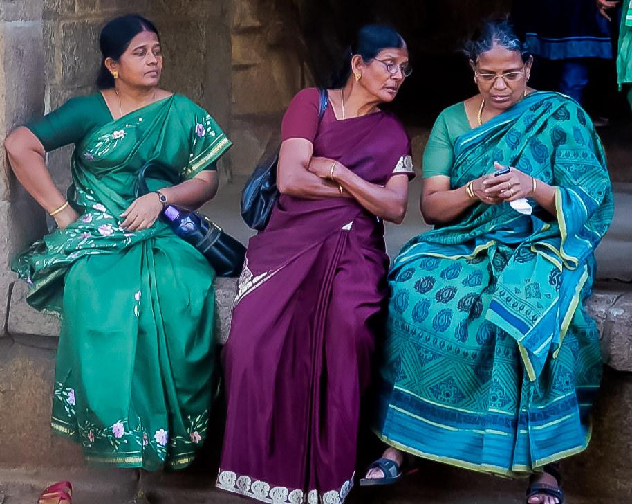 Women conversing among each other