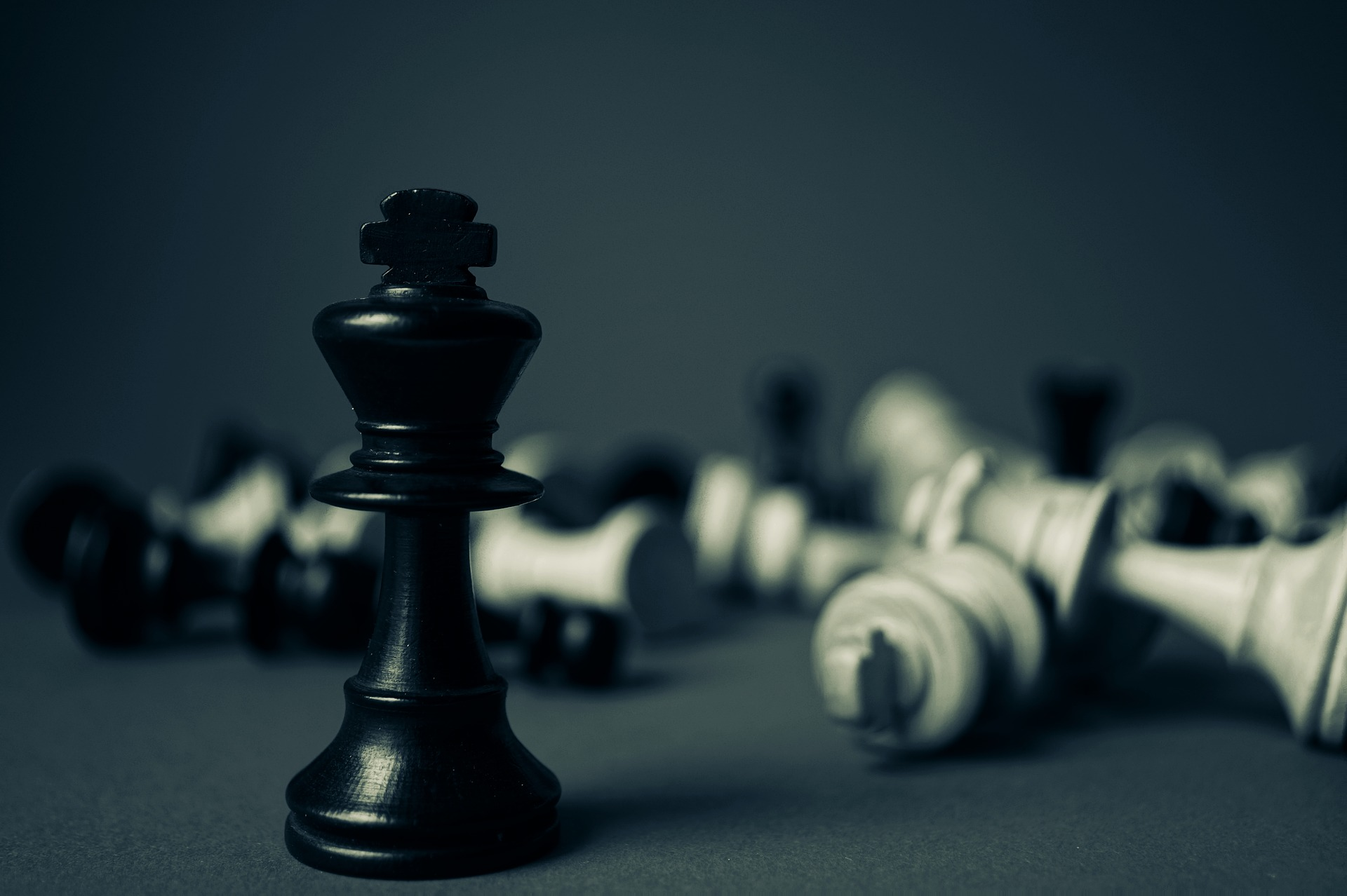 The black king in chess