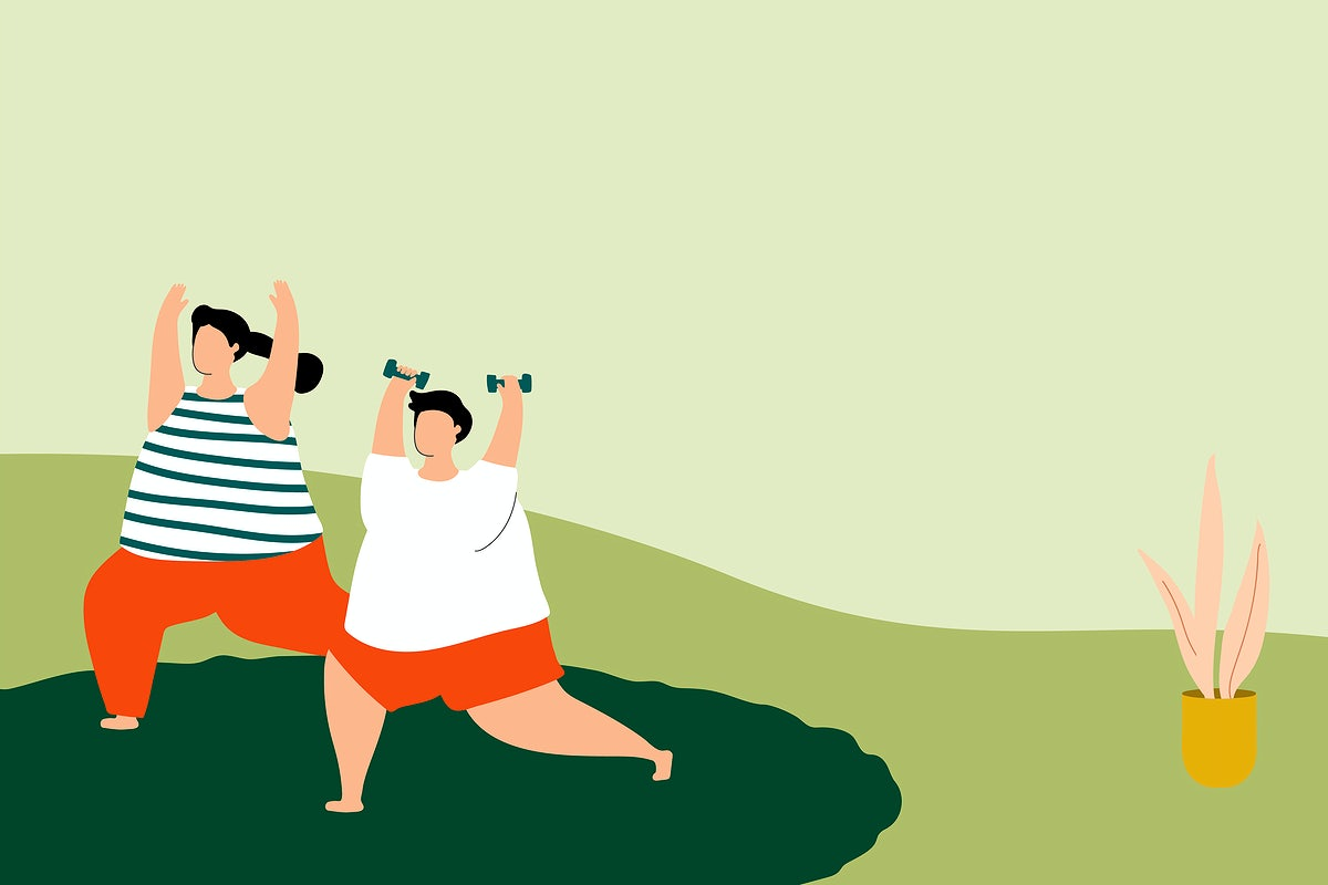 illustration of people exercising_rawpixel