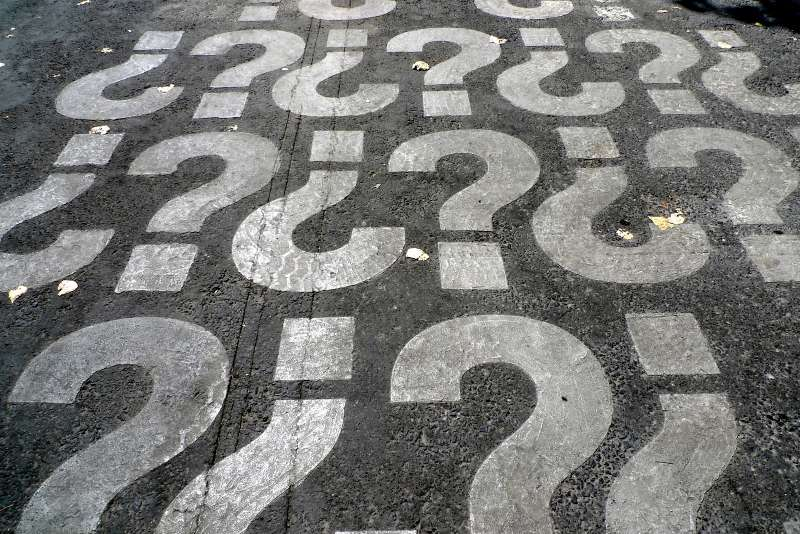 question marks painted on the ground-careers