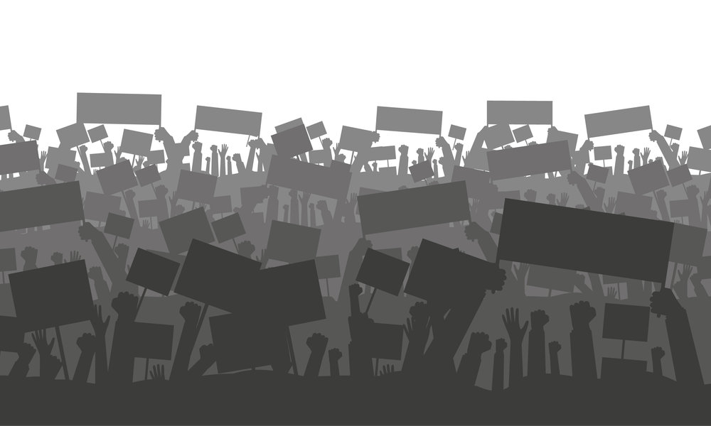 shutterstock image of protests