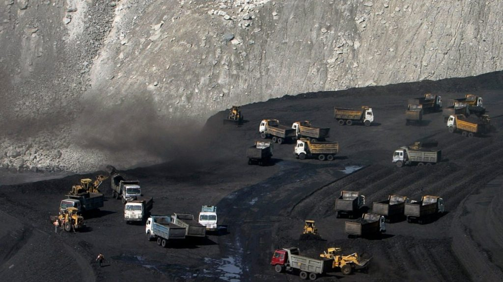 trucks on a coal field in India-Wikimedia Commons