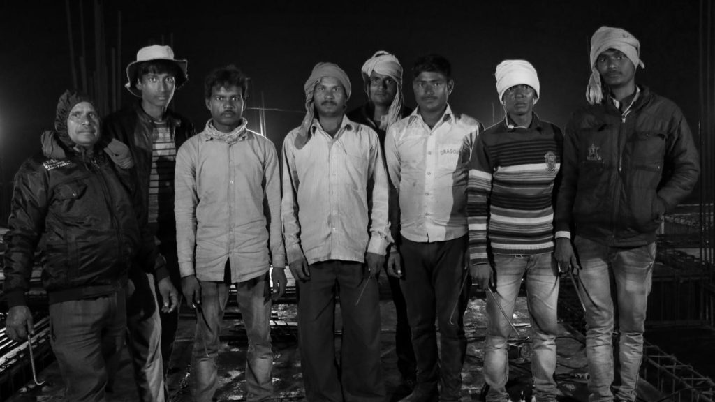 Migrant construction workers from Bareilly and Gorakhpur in Lucknow