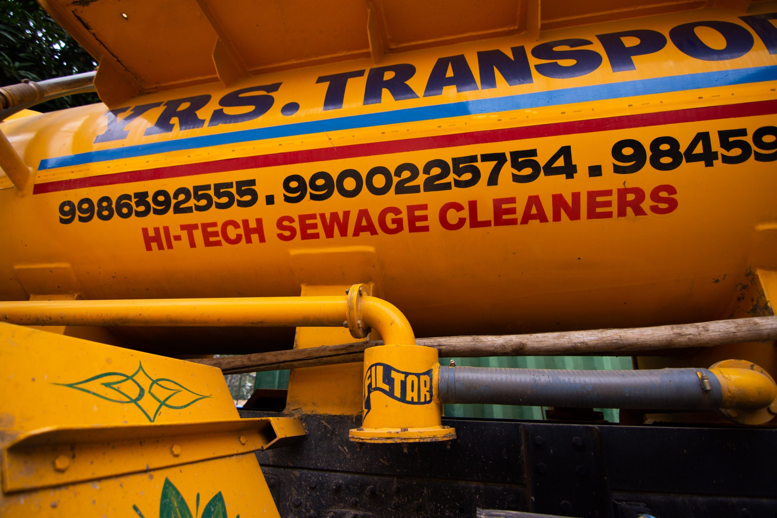 sewage cleaner truck_sanitation workers_epw