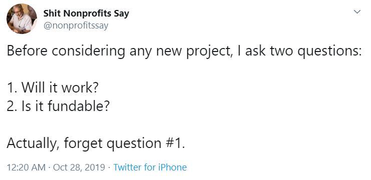 shit nonprofits say _ Twitter