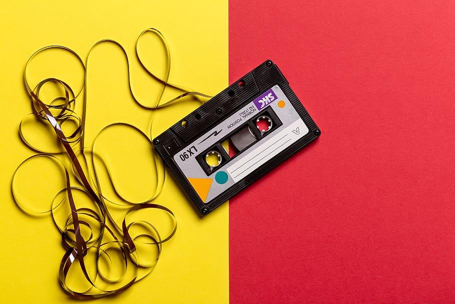 Audio cassette unspooled_pexels