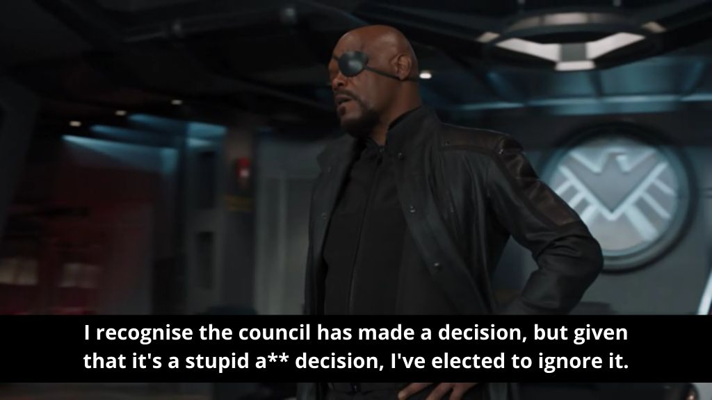 Avenger council has made a decision_nonprofit humour_covid1