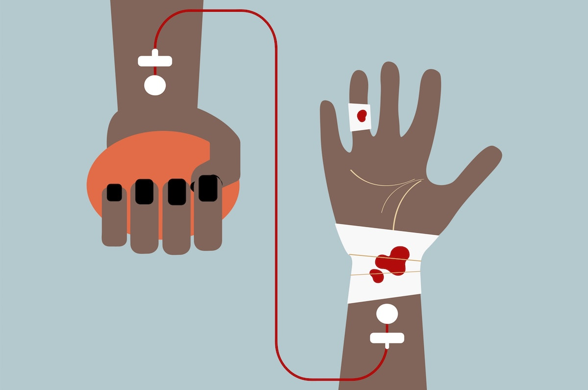 Blood donation graphic_Raw Pixel