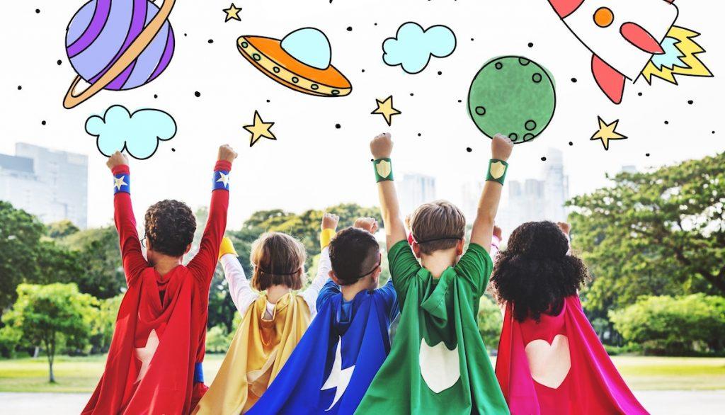 Children superheroes