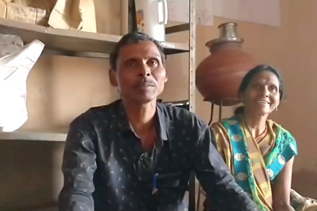 Dheeraram Kapaya sitting down and speaking