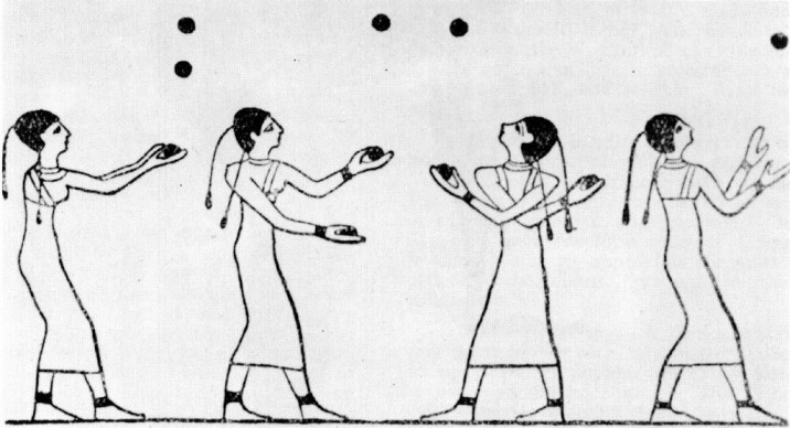 early egyptian artwork showing juggling-social entreprenurship