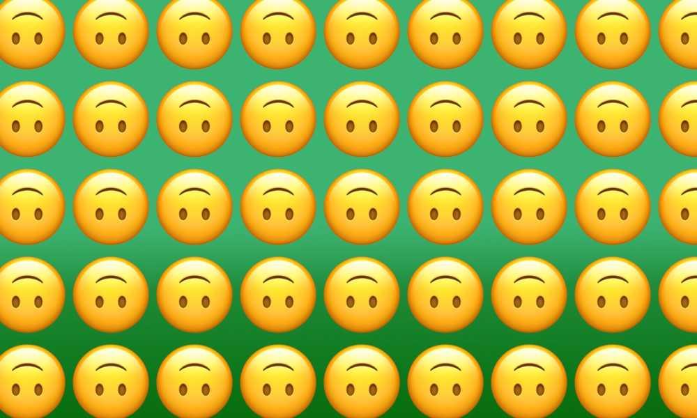 image of upside down emojis-nonprofit humour