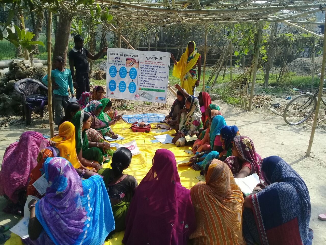 A financial literacy and women economic empowerment programme session-Picture courtesy: SIDBI PSIG
