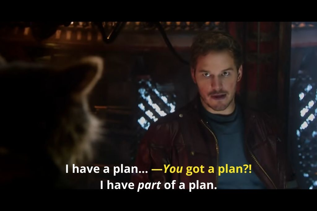 Guardian of the galaxy I have a plan_nonprofit humour_covid