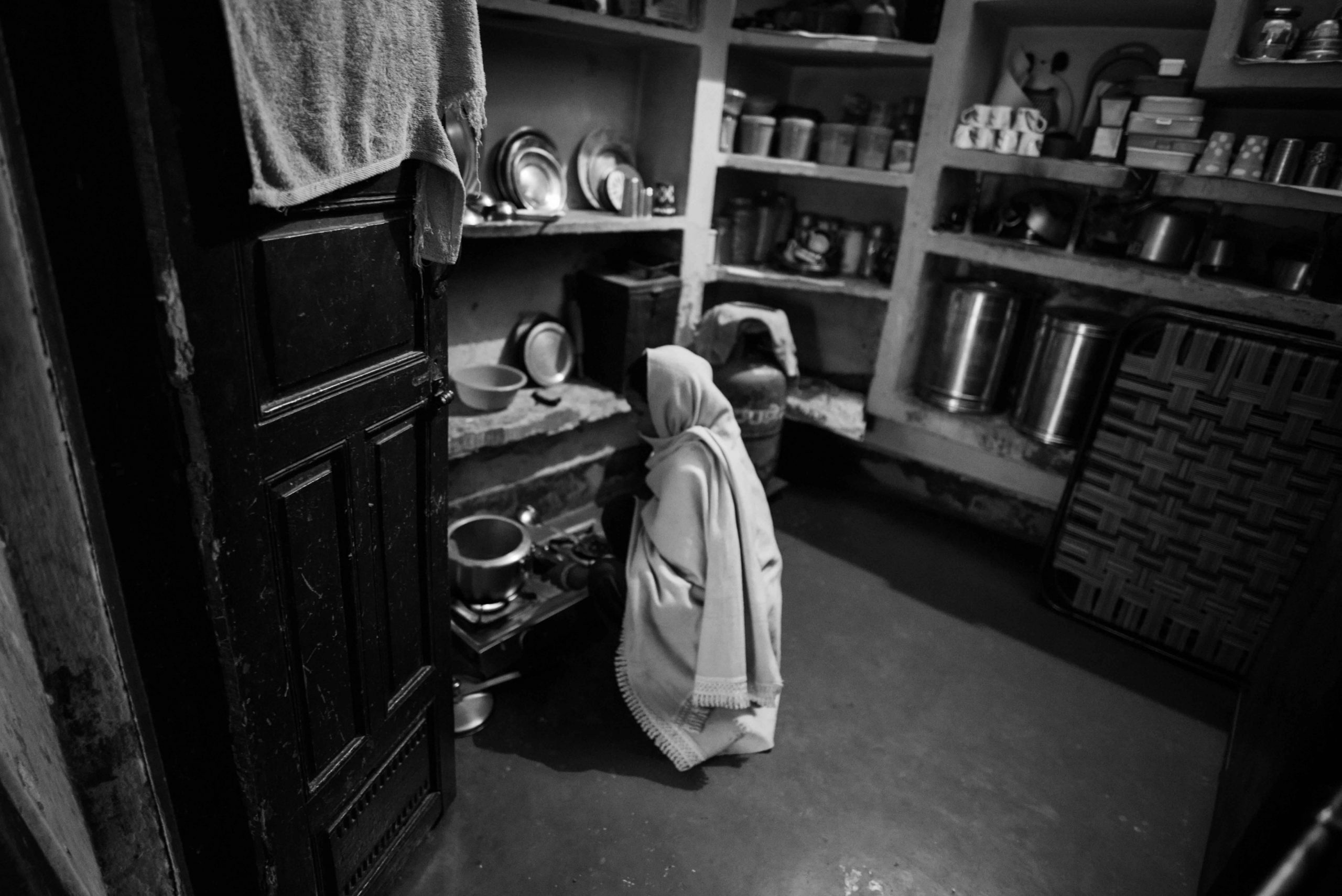woman in house kitchen
