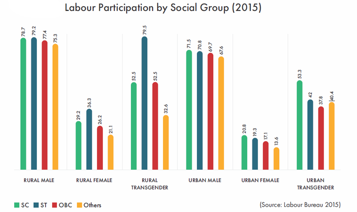 Labour Participation by Social Group graph