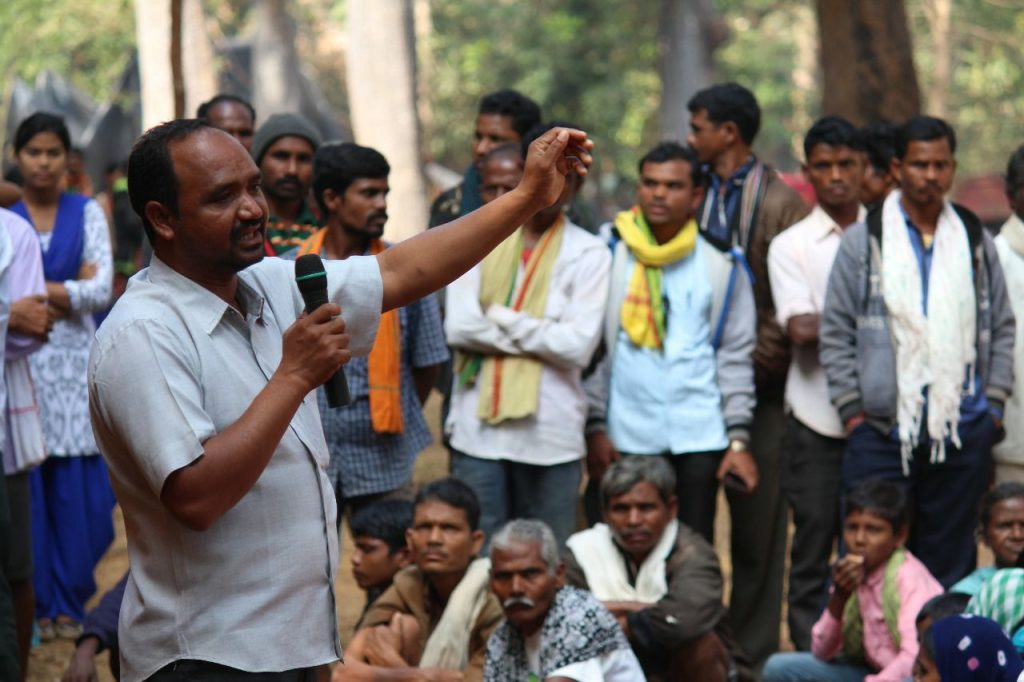 Lalsu Nogoti giving a speech to his people