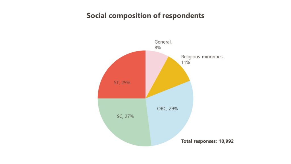 Social composition of the respondents