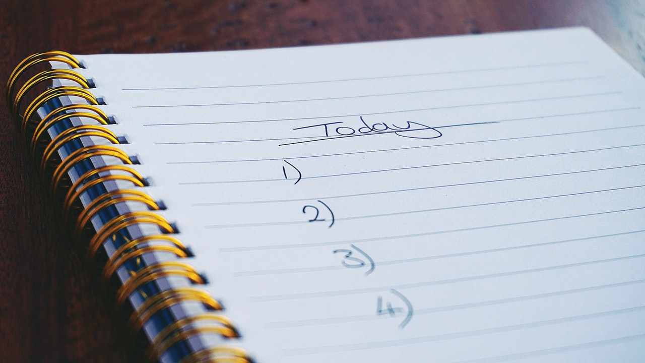 Image of a notebook with a to-do list
