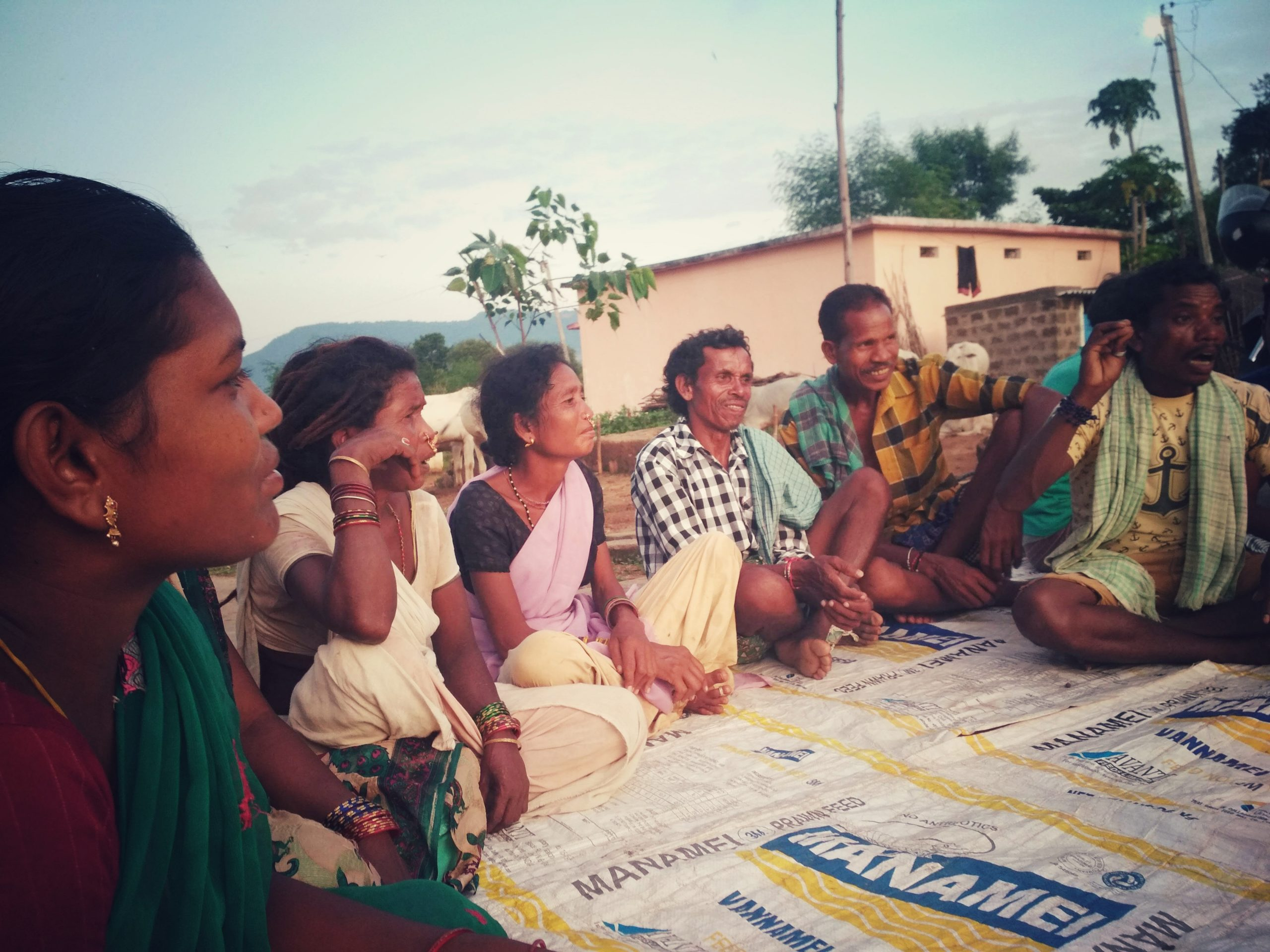 Member villagers of an FPO sitting for a meeting_Kavitha Kuruganti