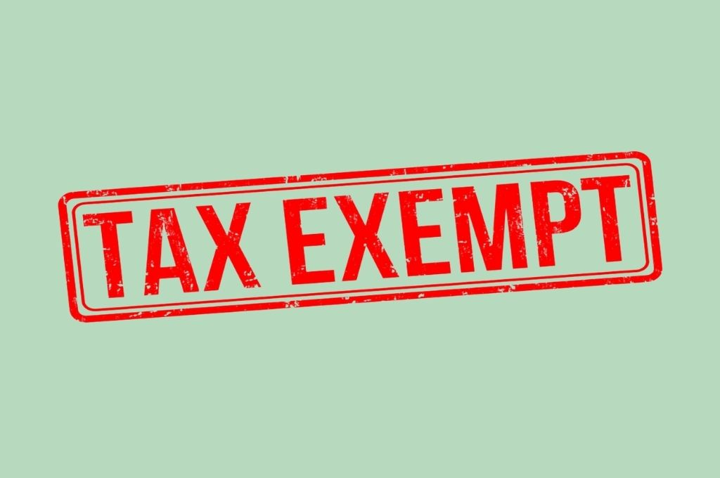 stock image of a red rubberstamp saying 'tax exempt'-tax exemption