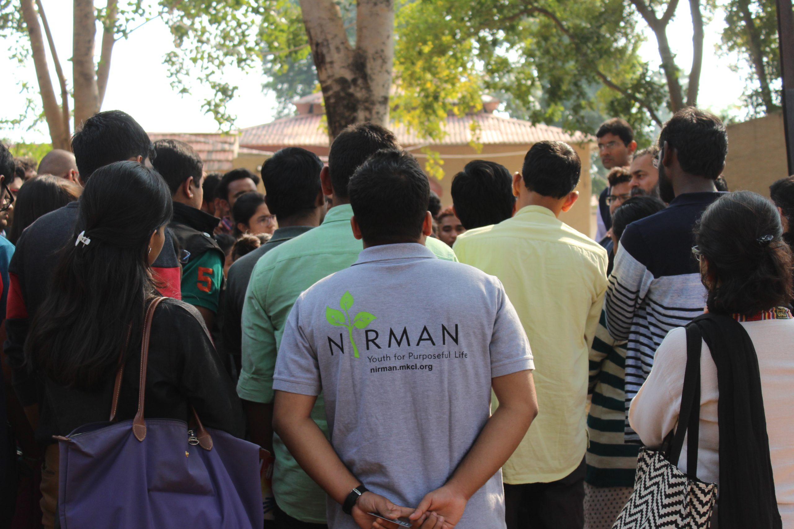 young students from nirman fellowship_youth_SKejriwal