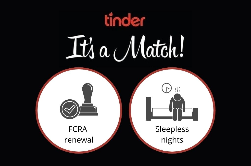 It's a match for FCRA renewal and sleepless nights-Tinder