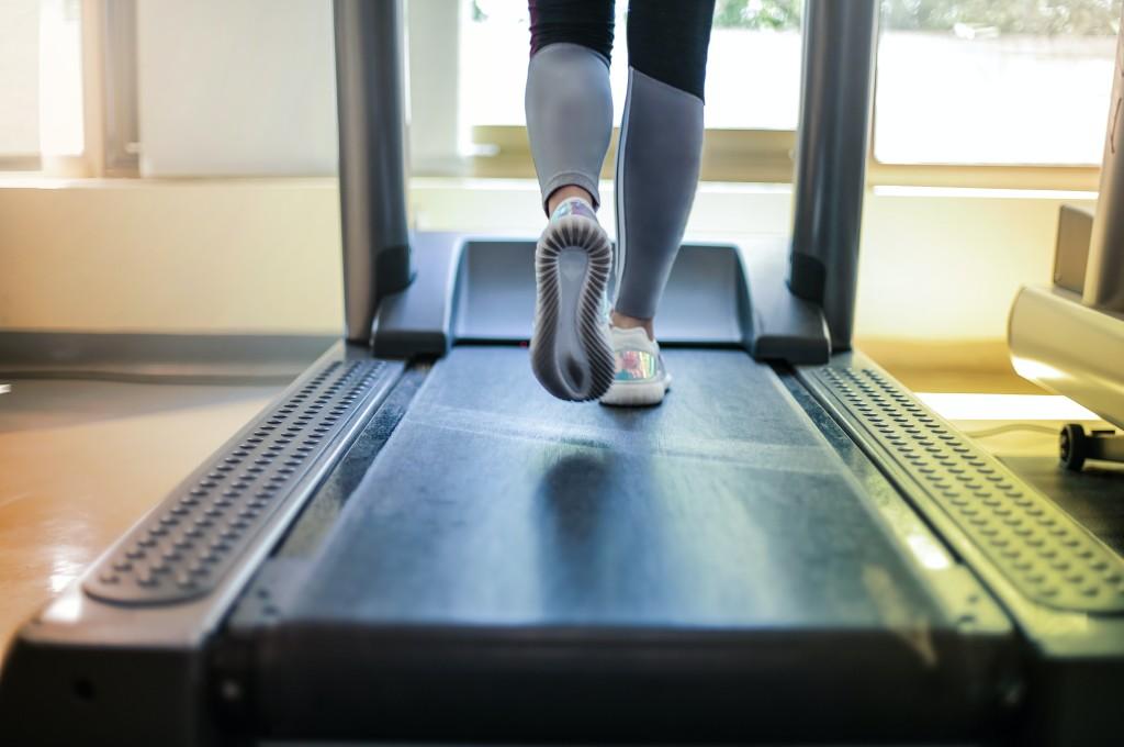 fundraising-person running on a treadmill