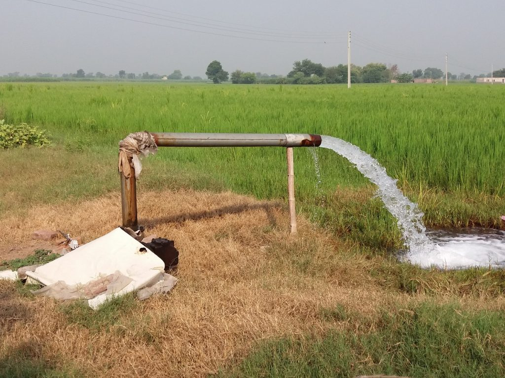 A tube well in village Chakria_