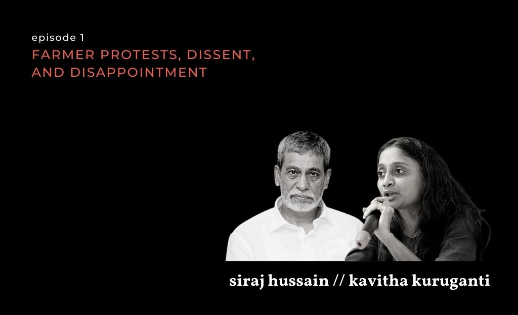 Agriculture Secretary Siraj Hussain, and the leader of a farmer collective, Kavitha Kuruganti on farmer protests