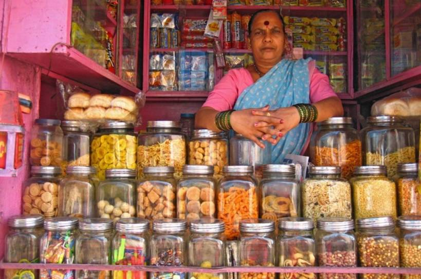 woman selling snacks at a shop-overnutrition